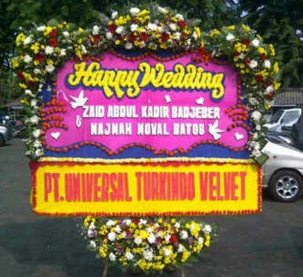 bunga papan pernikahan bogor b4