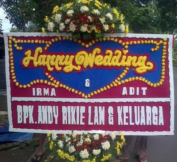 karangan bunga pernikahan bogor e2